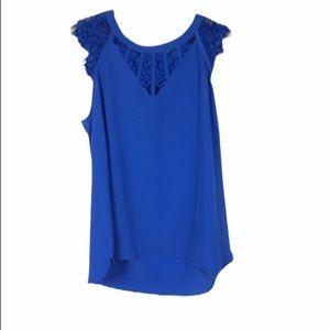Brixon ivy women's  blue Blouse lace Small